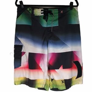 Hurley Mens 32 Board Shirts Swimsuit Bright Flaw